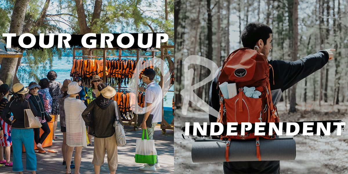 Independent travel or tour group